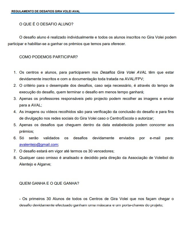 DESAFIOS ALUNO CASA - REGULAMENTO1